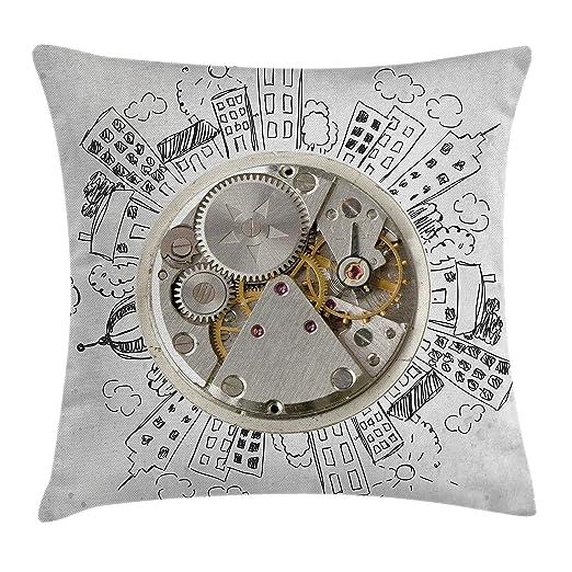 Reloj manta almohada Funda de cojín por Ambesonne, Vintage ...