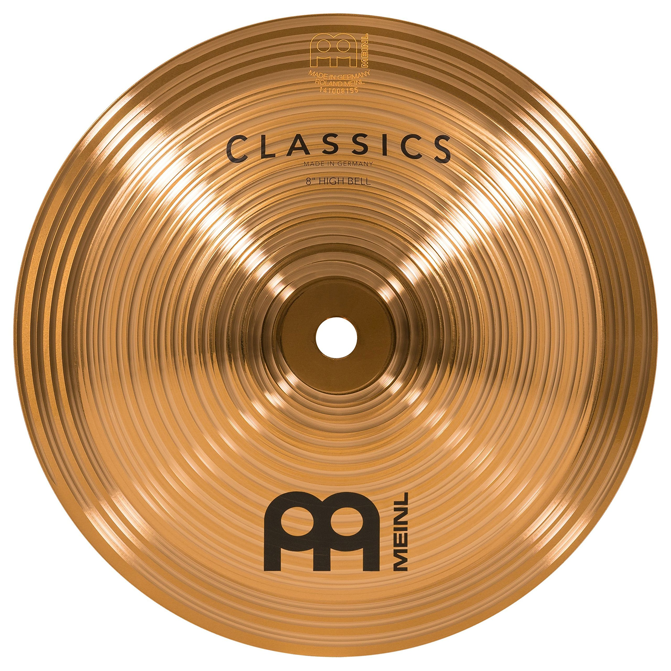 Meinl 8'' High Bell - Classics Traditional - Made in Germany, 2-YEAR WARRANTY (C8BH) by Meinl Cymbals