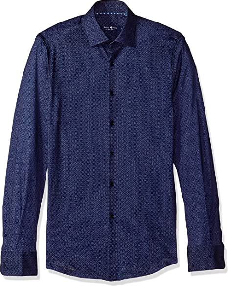 Stone Rose Mens Printed Denim Long-Sleeve Shirt