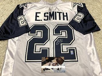 ce0619c15 ... ebay emmitt smith autographed signed dallas cowboys custom white jersey  thanksgiving day style gtsm emmitt personal