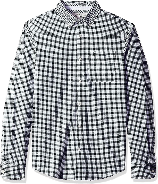Original Penguin Mens Long Sleeve Gingham Button Down Shirt