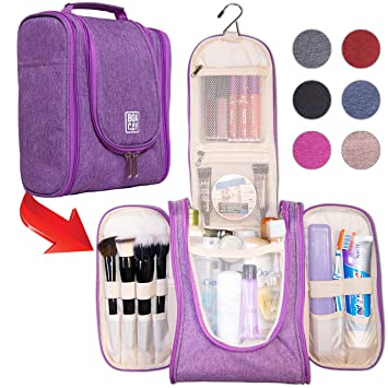 6a56ee4d9e Amazon.com   Premium Hanging Travel Toiletry Bag for Women and Men ...