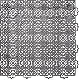 Andiamo 202.403 plastica piastrelle piastrelle / piano 38 x 38 cm, Set: Composto da 7 1 piastrelle m², grigio scuro