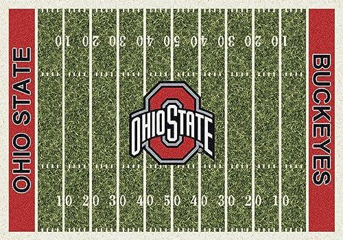 American Floor Mats Ohio State Buckeyes NCAA College Home Field Team Area Rug 5 4 x7 8