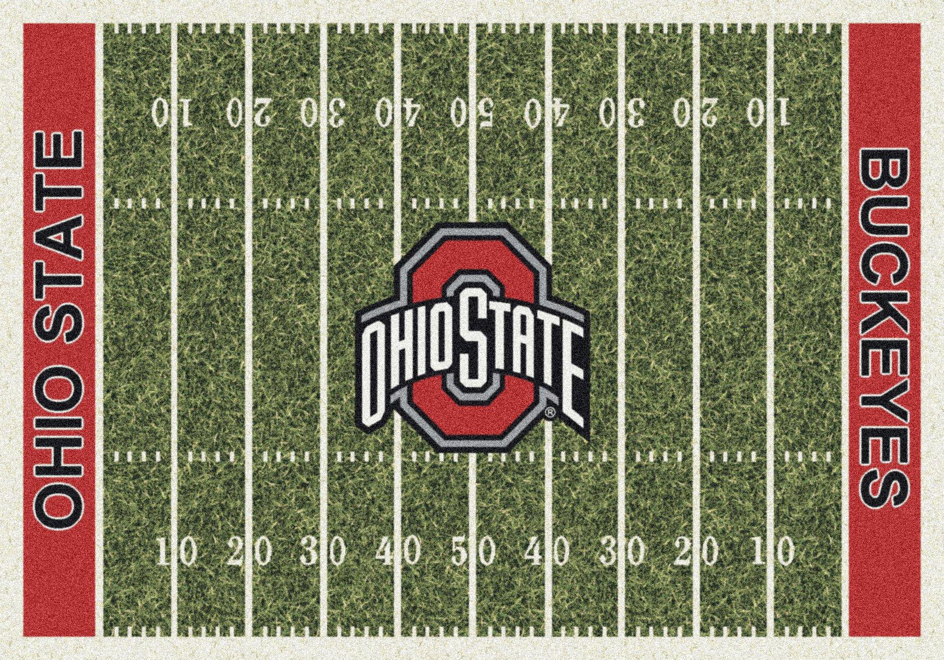 Ohio State Buckeyes NCAA College Home Field Team Area Rug 7'8''x10'9''