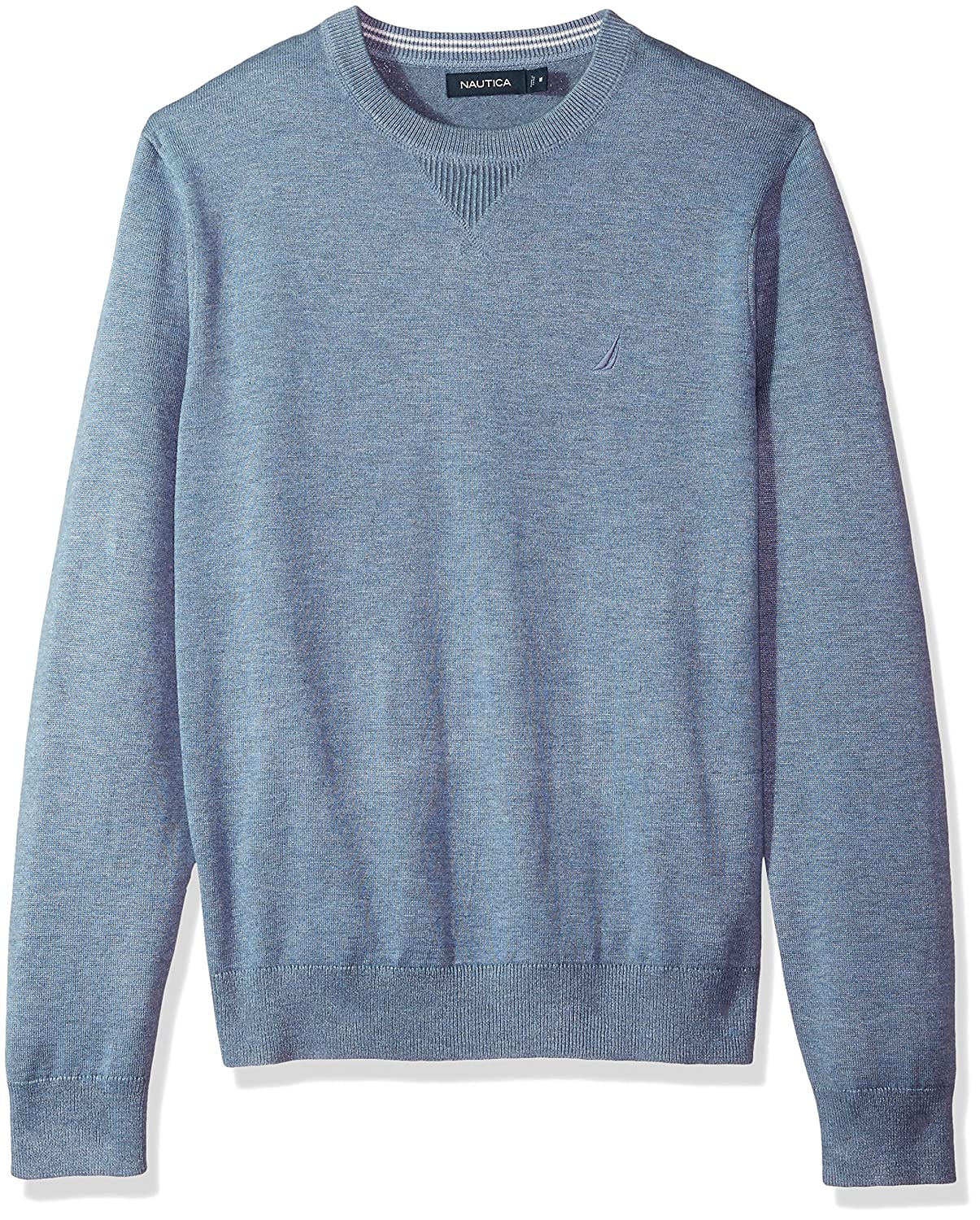 Nautica Men's Light Weight Crew Neck Solid Sweater by Nautica