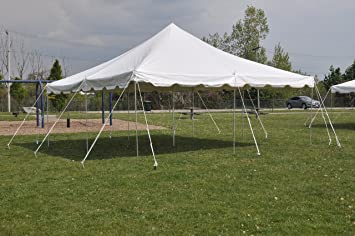 20 ft by 20 ft White Canopy Pole Tent Complete Set with Storage Bag & Amazon.com : 20 ft by 20 ft White Canopy Pole Tent Complete Set ...