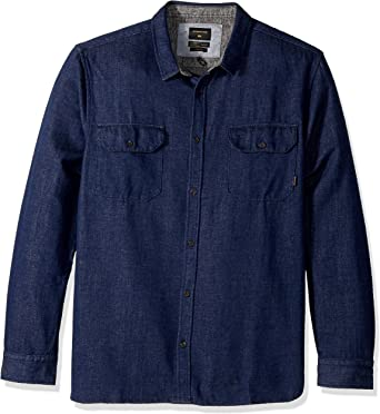 Quiksilver - Camisa de manga larga para hombre - Azul - Small: Amazon.es: Ropa y accesorios