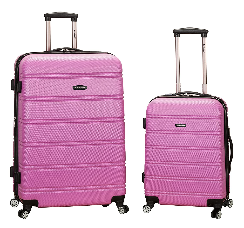 Rockland 2-Teilig Koffer-Set aus ABS mit Drehrollen, 51/71 cm, 200 Liter, Schwarz F225