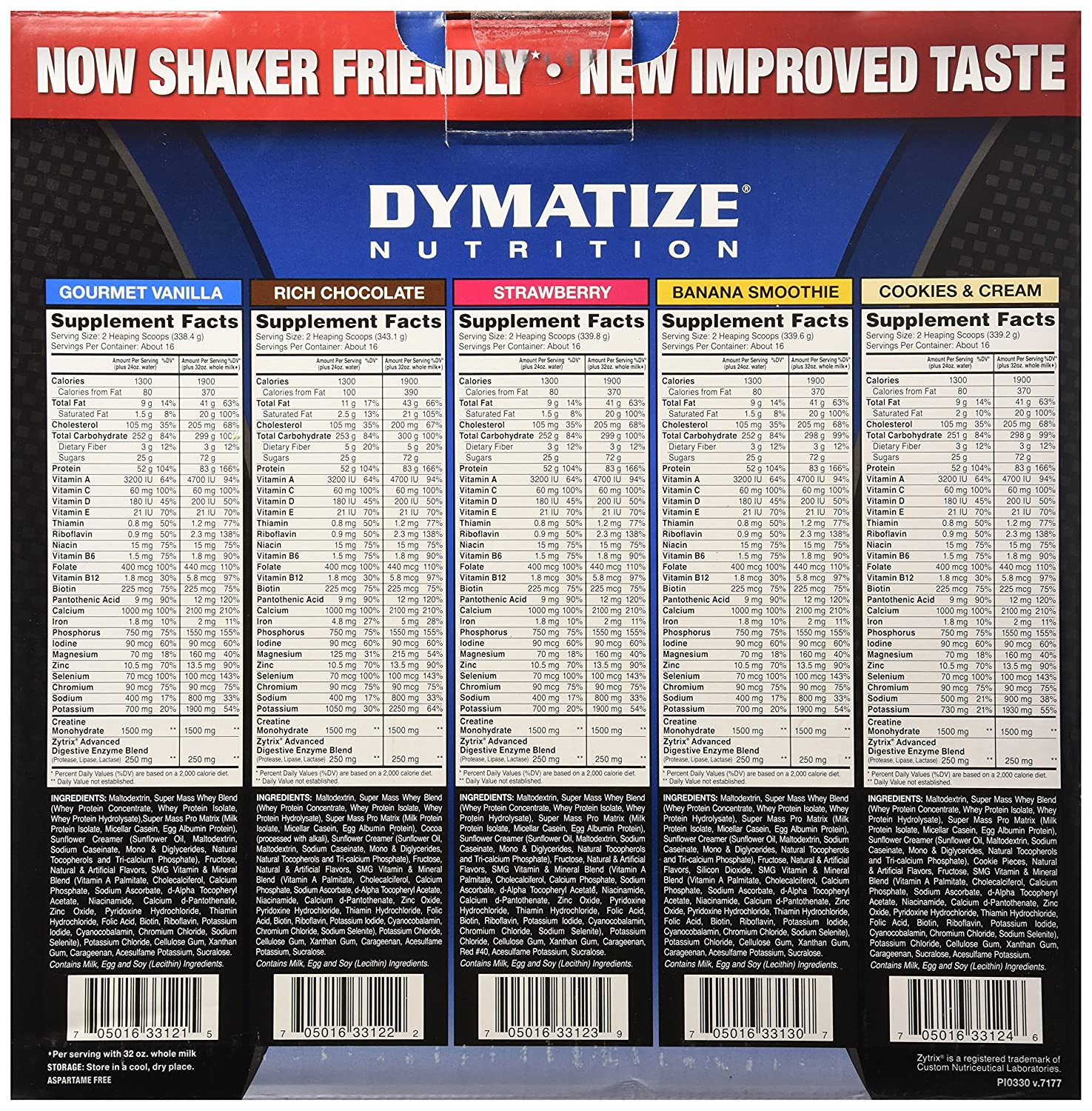Dymatize Nutrition Super Mass Gainer Strawberry 12 Supermass 12lbsb Pound Health Personal Care