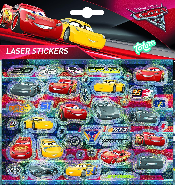 Totum CARS 140271cars3Laser Pegatinas Cars, Multicolor
