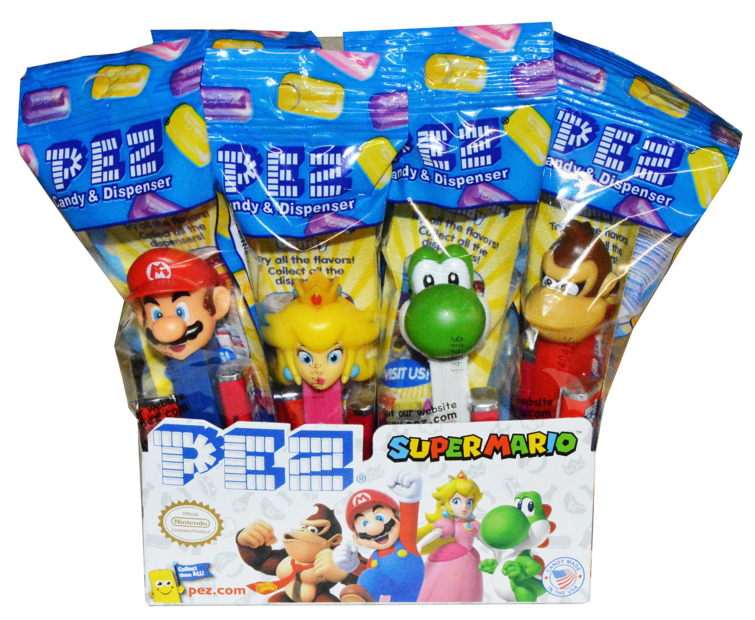 Pez Nintendo Super Mario Dispensers (12 Pack) by PEZ Candy (Image #1)