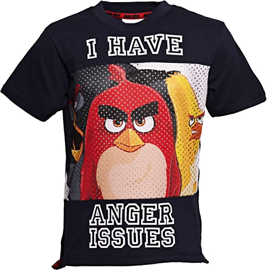 f7b7966a Image Unavailable. Image not available for. Color: ANGRY BIRDS MOVIE |  Official Licensed | Angry Bird Movie T-Shirt Selection
