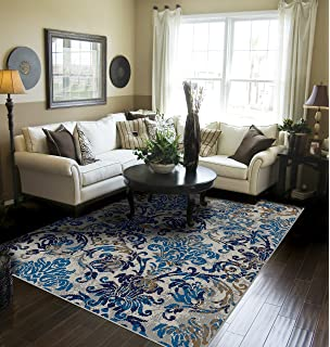 Contemporary Distressed Area Rugs Living Room 8x10 Blue Large Rugs Dining  Room 8x11 Under 100