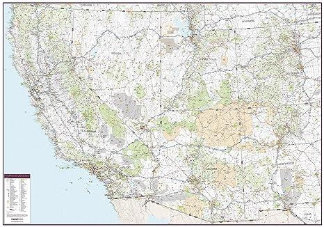 Amazon.com : Southwestern United States Wall Map - 60\