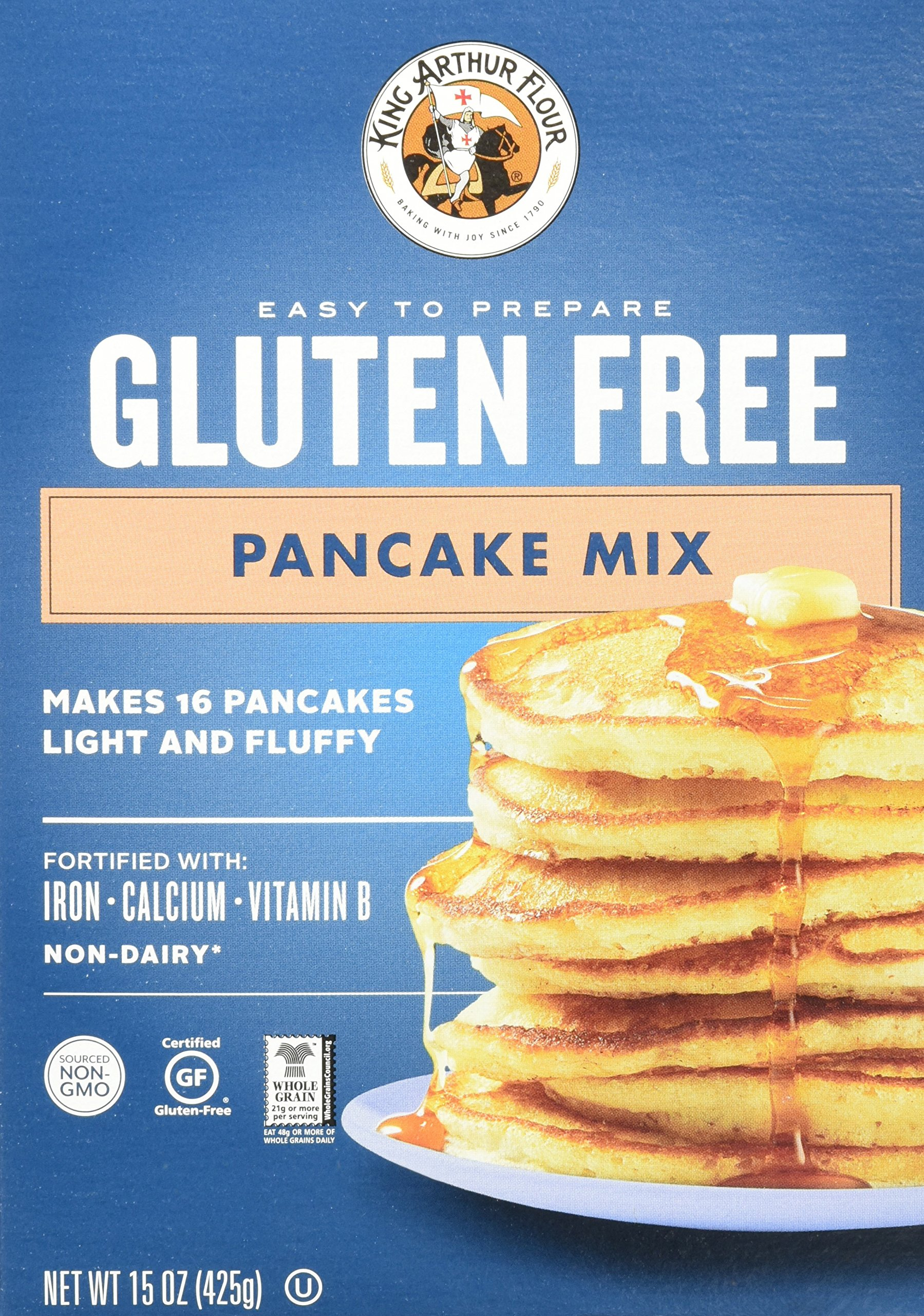 Amazon king arthur flour gluten free all purpose baking mix king arthur flour gluten free pancake mix 15 ounce pack of 6 ccuart Image collections