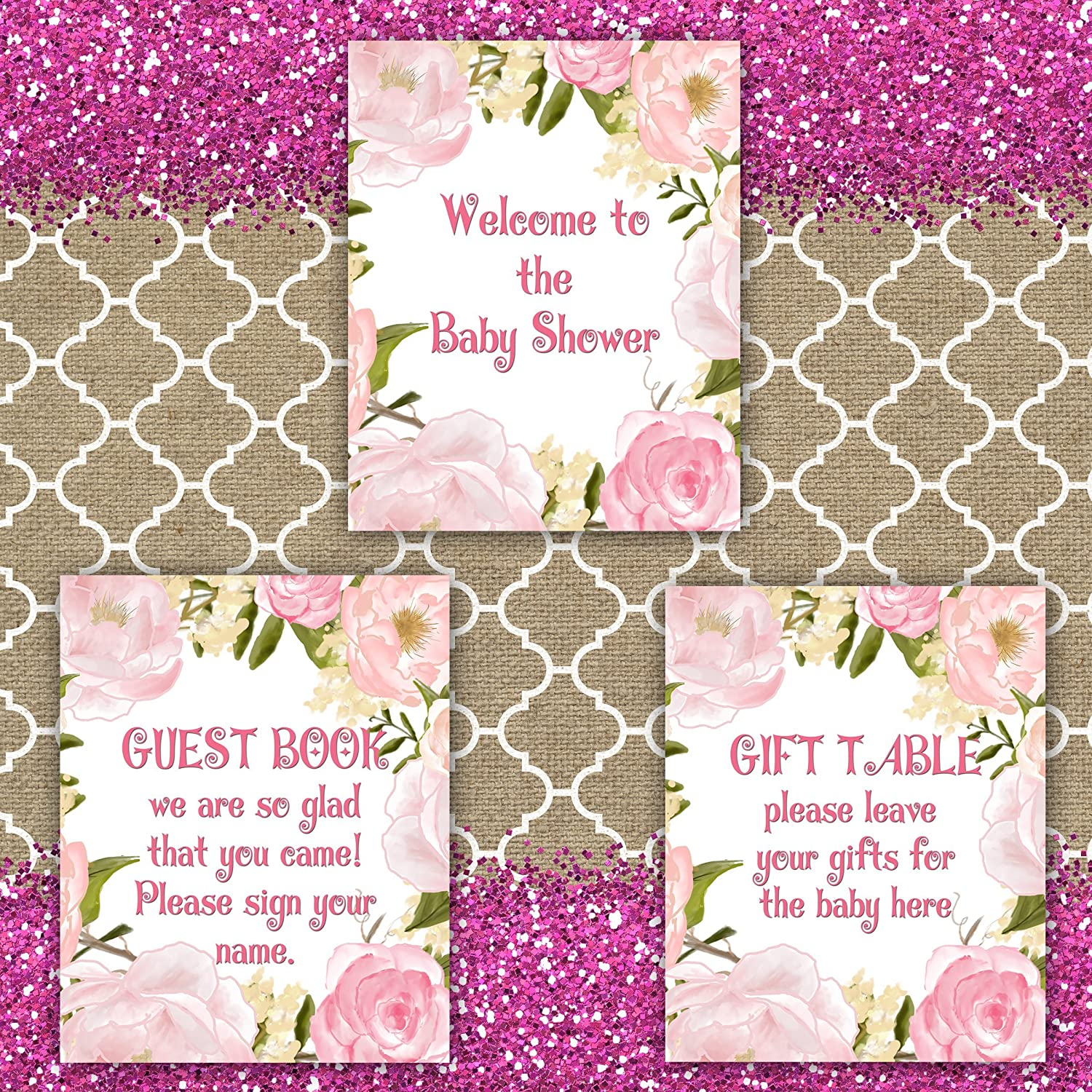 Amazoncom Baby Shower Welcome Sign, Welcome To Baby Shower Sign,