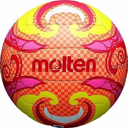MOLTEN - Balón de Volley Playa Orange/Gelb/Pink Talla:5: Amazon.es ...