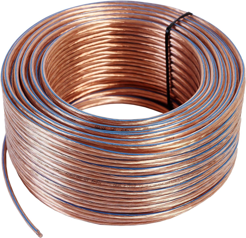 cable de cobre 99,99 /% OFC Made in Germany aislamiento transparente cable para bafles // cable para audio para altavoces y home cinema cord/ón: 2 x 48 x 0,2 mm Misterhifi Cable para altavoces de 30 m 2 x 1,5 mm/²