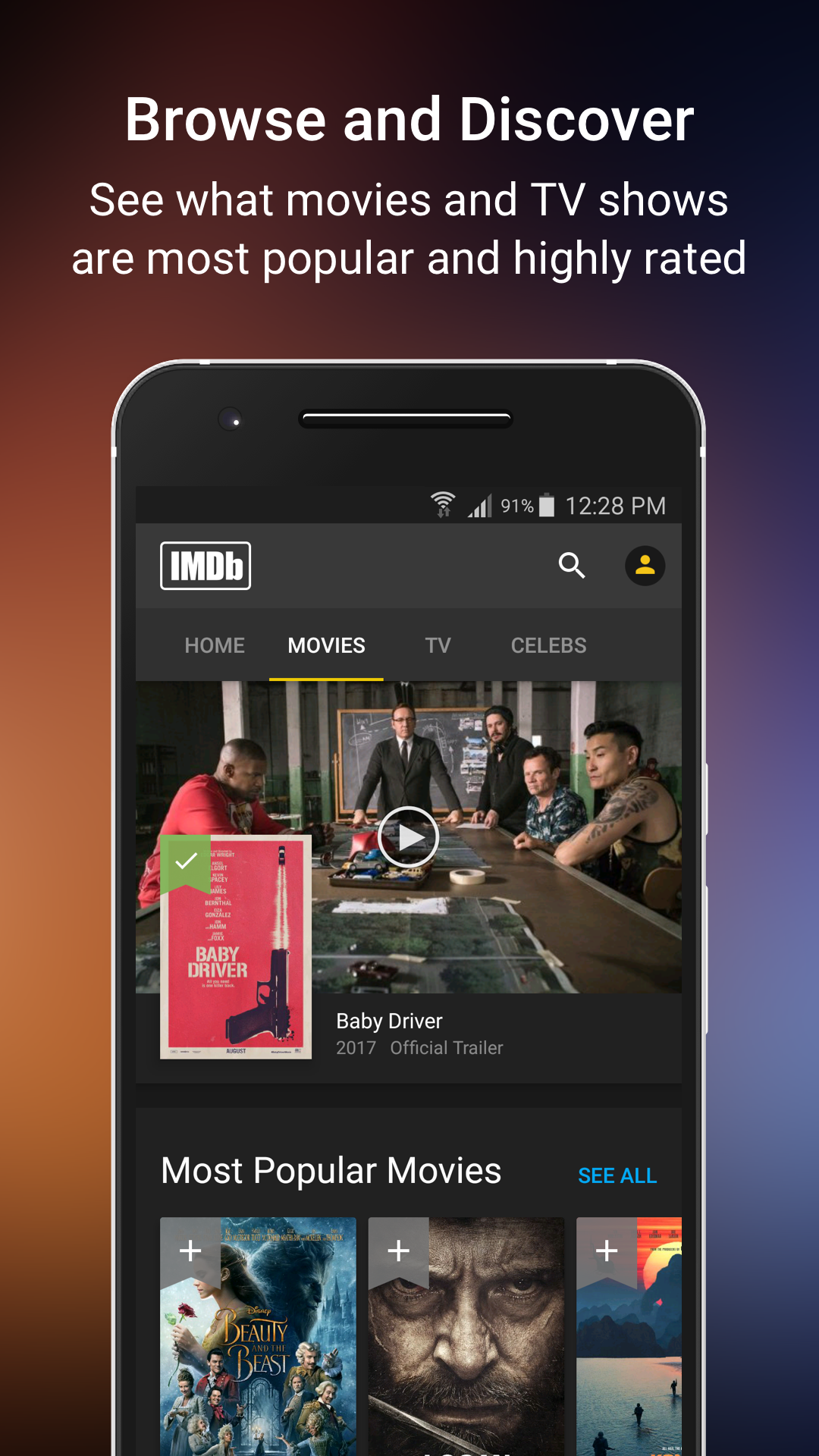 Amazon IMDb Movies TV Appstore for Android