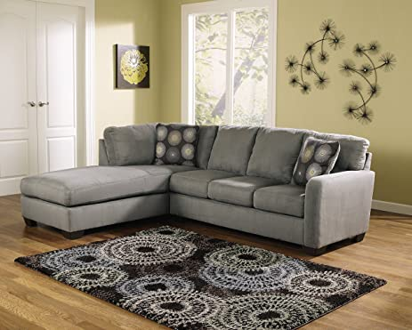 ashley furniture signature design zella 2piece sectional right arm facing sofa u0026