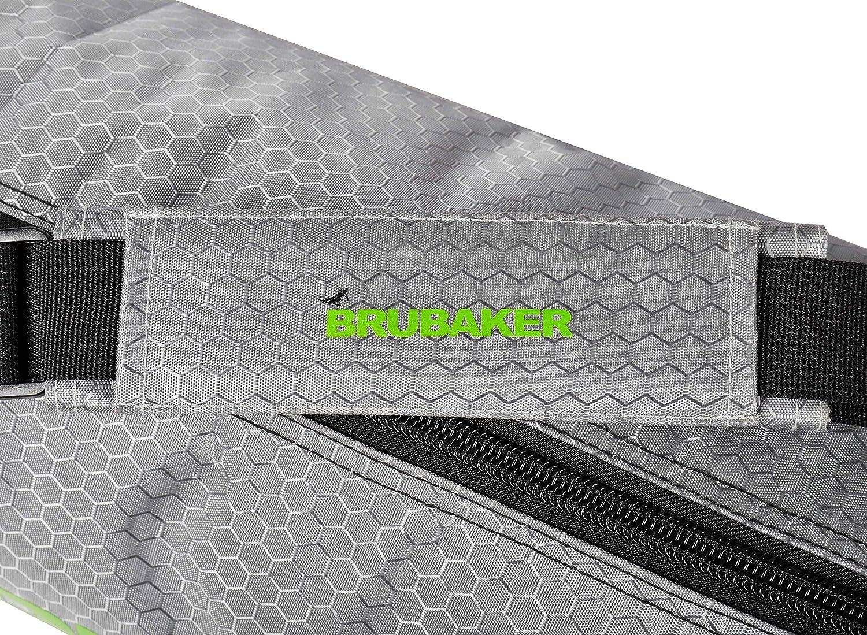 Verde Argento Borsa da Sci per 1 Paio di Sci e Bastoncini Brubaker CarverTec PRO