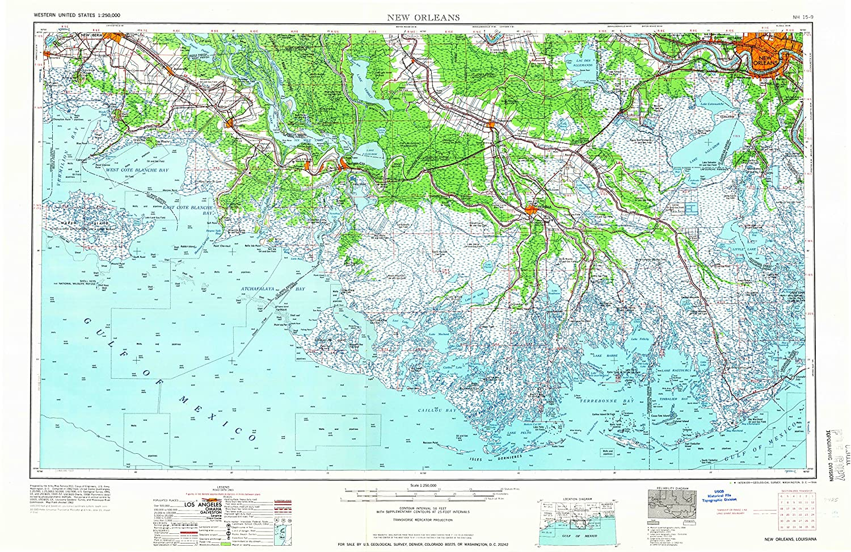 Amazon Com Yellowmaps New Orleans La Topo Map 1 250000 Scale 1 X