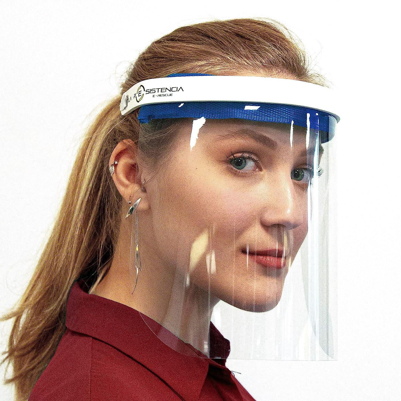 Anti Salpicaduras Fabricado en Espa/ña Acolchado Color Elegible Visera para la Seguridad de la Cara Lavable 1 unidad, Rojo Intenso Pantalla Protector Facial C/ómodo