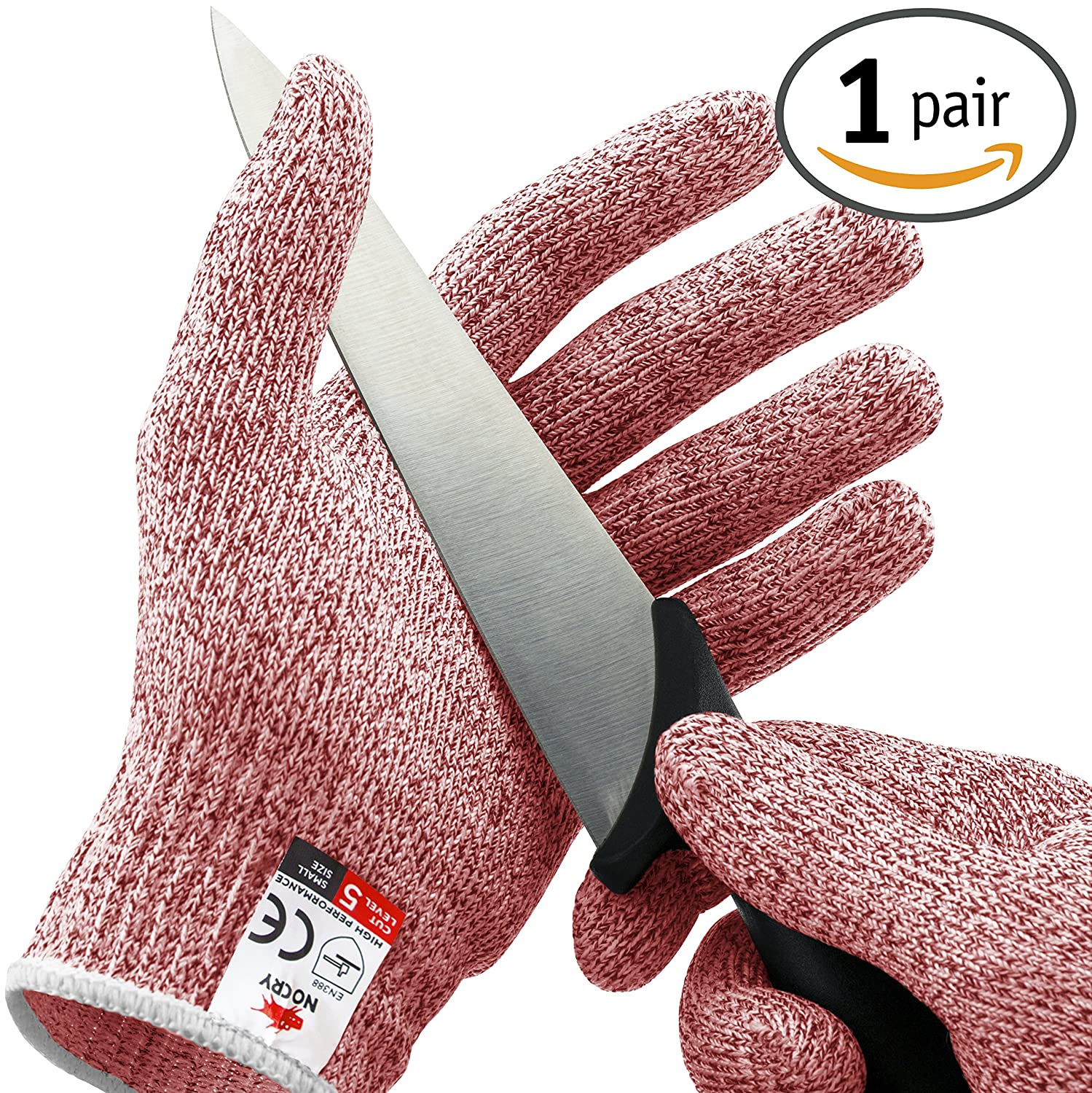 NoCry Cut Resistant Gloves – 高パフォーマンスレベル5保護、食品グレード。無料電子書籍Included 。 S レッド B06X3ZZXTF S レッド