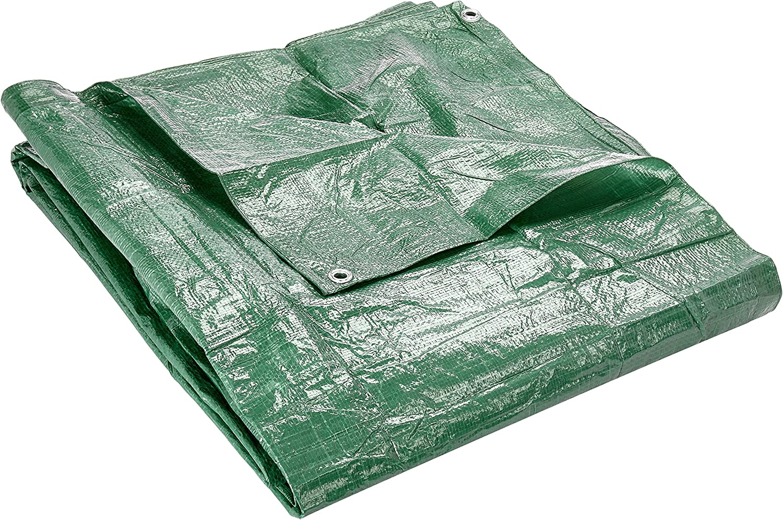 Verdemax 4694 90 G/m² 4 x 5 m Lona Impermeable con Ojales – Verde
