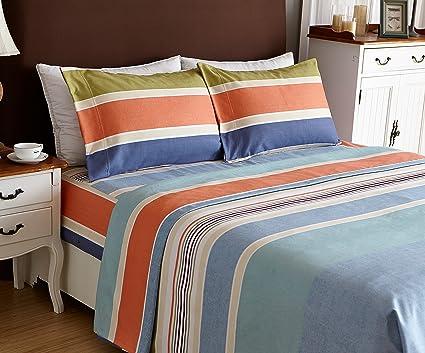 Bed Sheet Set 4 Piece,Brushed Microfiber 1500 Bedding.Extra Deep Pocket(
