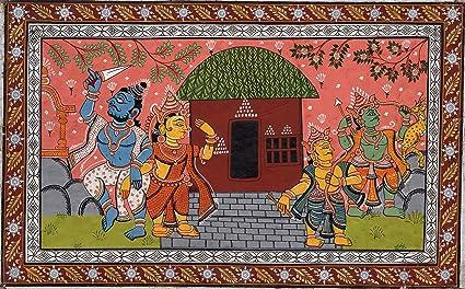 Amazon com: Madhubani Art Indian Mithila Miniature Tribal Folk