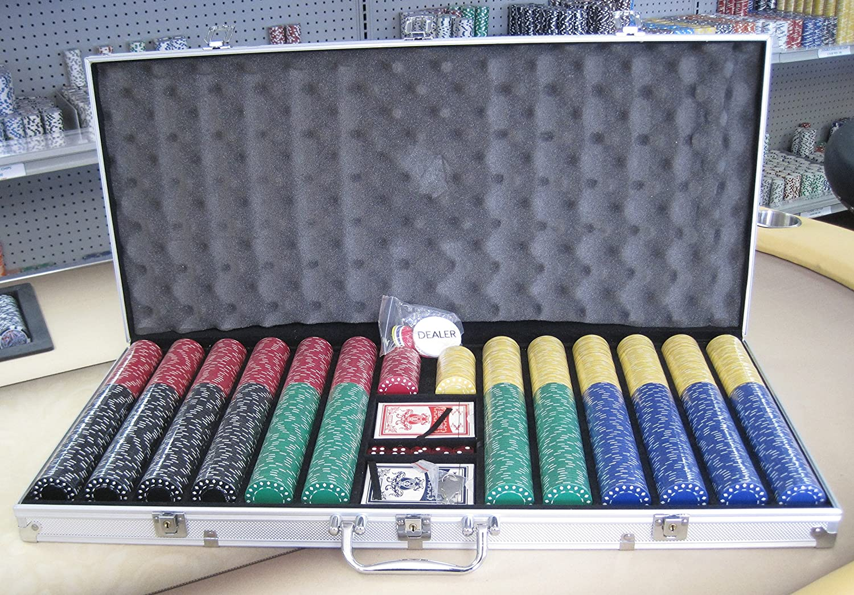 爆買い! 1000チップPokerダイヤモンドチップセットW/ Dice、カード B01N7XWXS4、Dealerキット、シルバーケース&キー B01N7XWXS4, 東北ハッピー農園:c1a85806 --- vanhavertotgracht.nl