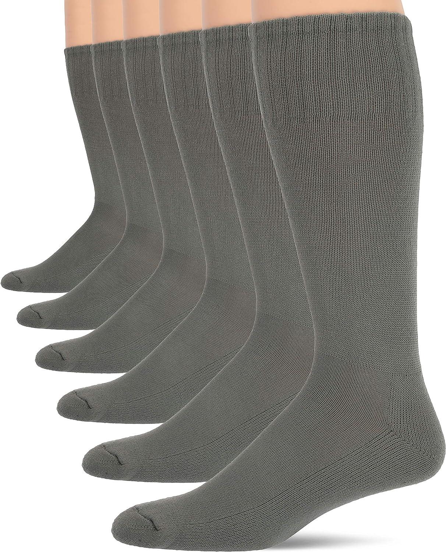 Jefferies Socks Men's Military Rib Top Combat Crew Boot 6 Pack