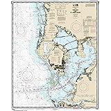 """MapHouse NOAA Chart 11412 Tampa Bay St. Joseph Sound: 41.91"""" X 33.75"""" Paper Chart"""