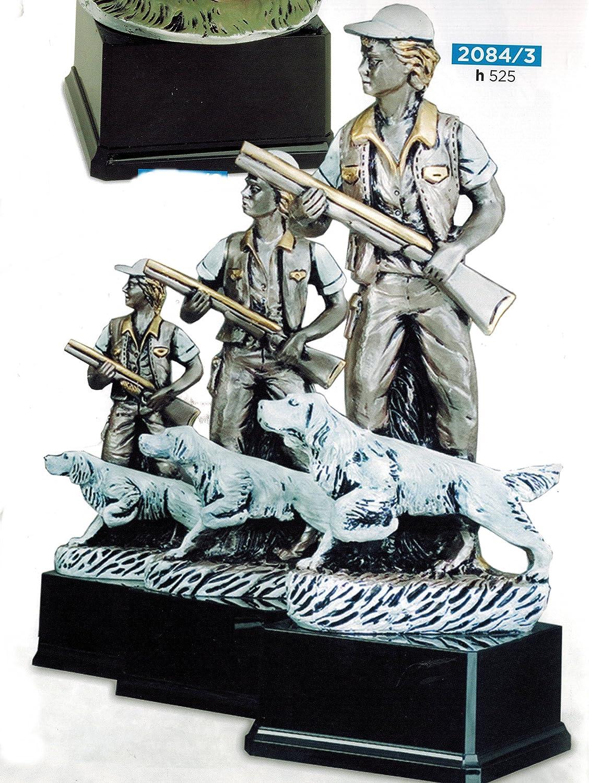 Trofeo Caza–Cazador con perro–H cm 52,5–Manivela–Made in Italy 5-Manivela-Made in Italy CINQUESTELLE