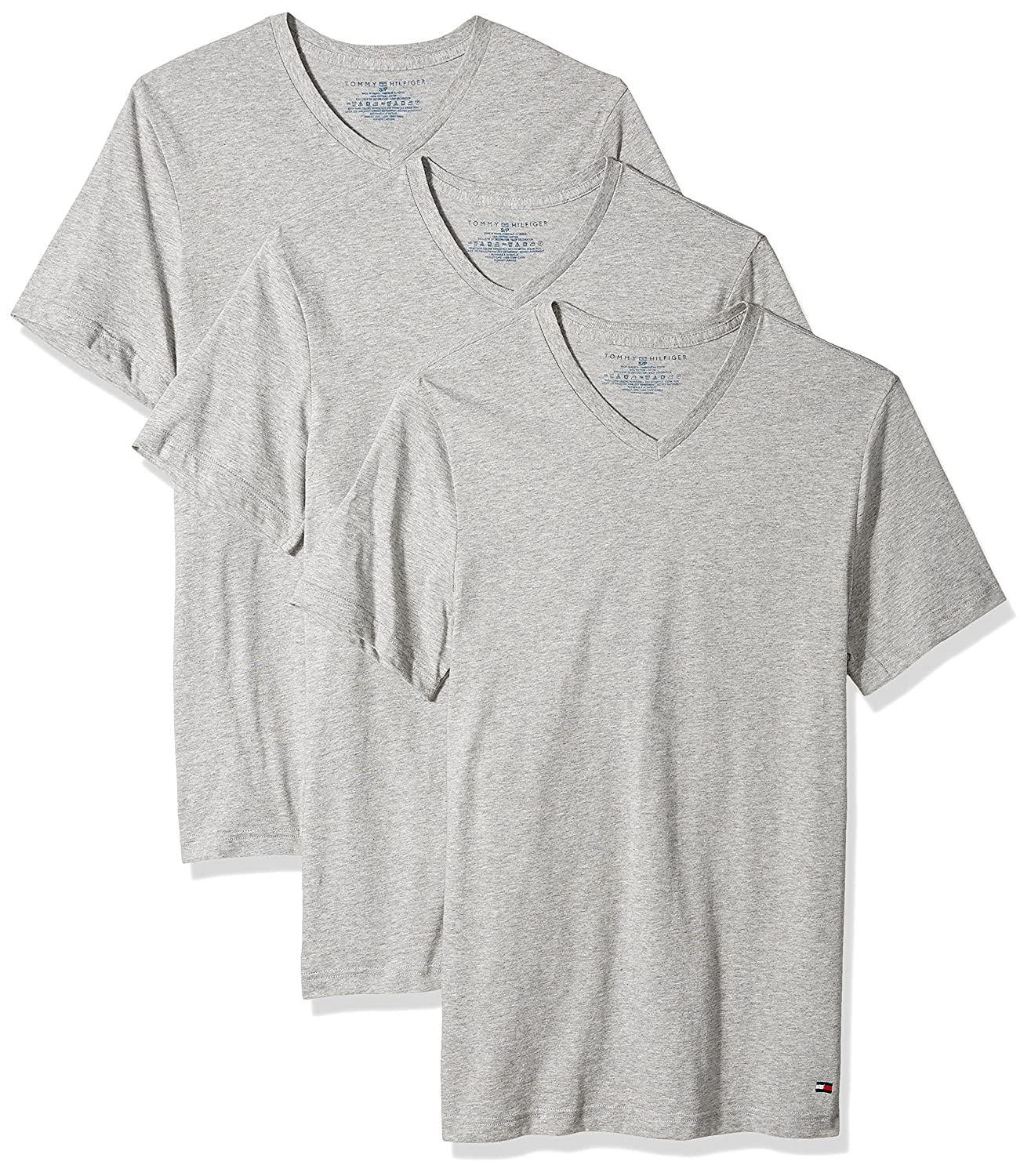 c3d5c38d7 Tommy Hilfiger Men's 3-Pack Cotton V-Neck T-Shirt: Amazon.ca: Clothing &  Accessories