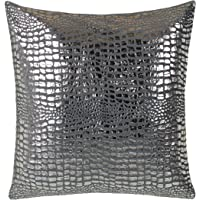 Brandsseller Trendline Kussenovertrek voor sierkussens, sierkussens, knuffelkussen, 40 x 40, Greyshine, grijs/zilver…