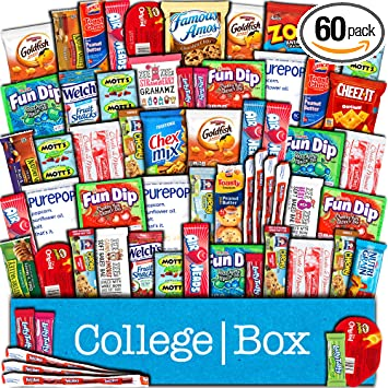 Amazoncom Collegebox Snacks 60 Count Ultimate Care Package