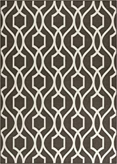 product image for Maples Rugs 5 x 7 Non Slip Large Area Rugs [Made in USA] for Living Room, Bedroom, and Dining Room, Dove/Neutral