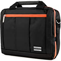 "El Prado Collection 3 in 1 Backpack and Messenger Bag for Kobo Arc 10 HD 10.1"" Tablet (Orange)"