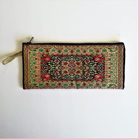 Cartera Monedero turco con cremallera Apaisado 20 x 10 (Rojo ...