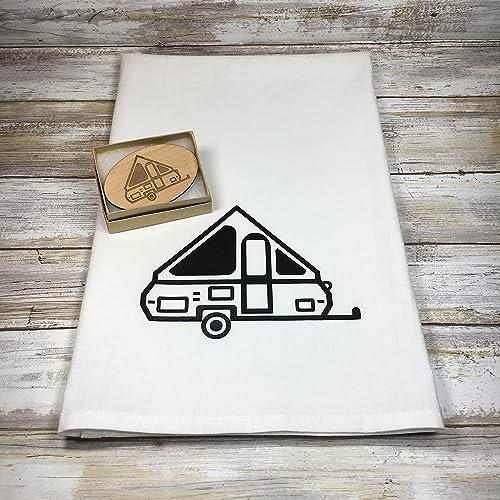 Amazon.com: A-frame Pop Up Camper Flour Sack Dish Towel with ...