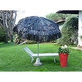 Maffei Art 6 Kenia, Sonnenschirm rund Durchmesser cm 200, mit Bast, Made in Italy. Farbe Schwarz