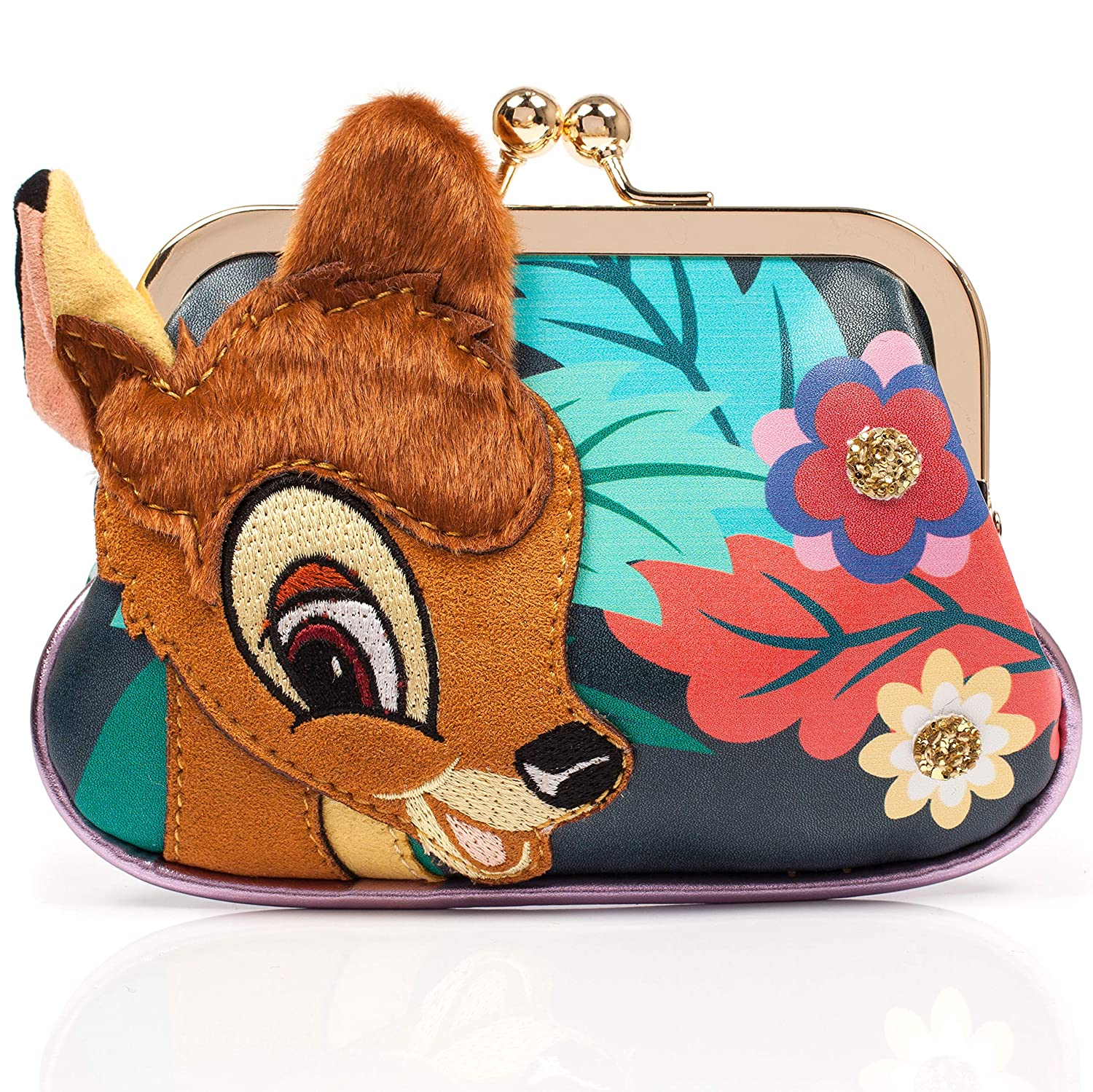 Irregular Choice Darling Deer Purse, Porte-monnaie femme, Multicolore (Black/Green), 3x10x16 cm (W...