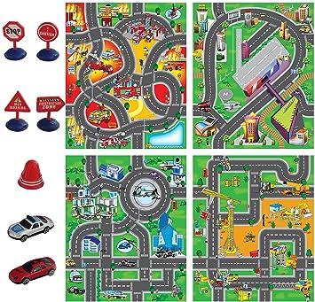 Circuit Enfants Enfant City Voiture Tapis Road Ville Pour De NnZw0kX8OP