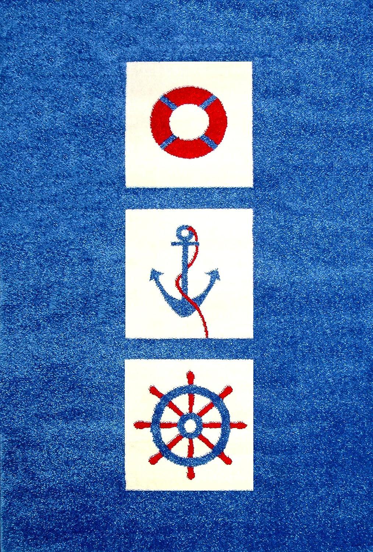 Little Helper IVI–Tappeto spesso in rilievo 3d design nautico, 160x 230cm BC/MARINER-100150FR