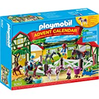 PLAYMOBIL 9262 Advent Calendar Horse Farm toy interlocking building set figures, Multicolor