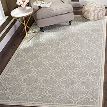 Amazon Com Safavieh Amherst Collection Amt412b Light Grey And Ivory