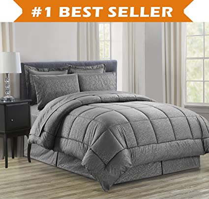 full comforter queen bay quilted reversible set comfort